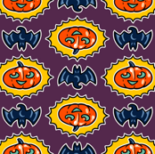 Halloween Hoopla - Pumpkin Medallion - Purple