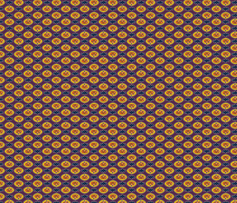 Halloween Hoopla - Pumpkin Medallion - Purple fabric by shannanigan on Spoonflower - custom fabric