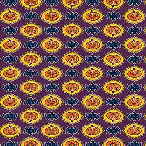 Halloween Hoopla - Pumpkin Medallion - Purple