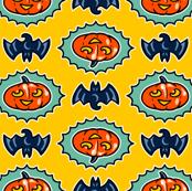 Halloween Hoopla - Pumpkin Medallion - Yellow