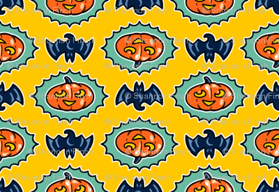 Halloween Hoopla - Pumpkin Medallion - Yellow