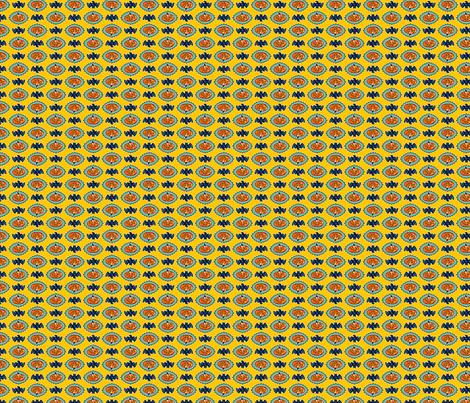 Halloween Hoopla - Pumpkin Medallion - Yellow fabric by shannanigan on Spoonflower - custom fabric