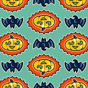 Halloween Hoopla - Pumpkin Medallion - Mint