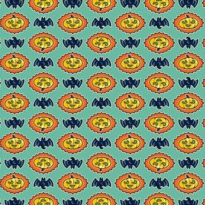 Halloween Hoopla - Pumpkin Medallion - Mint