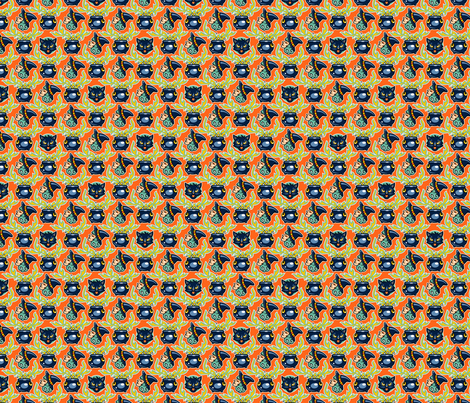 Halloween Hoopla - Witches Brew - Orange fabric by shannanigan on Spoonflower - custom fabric
