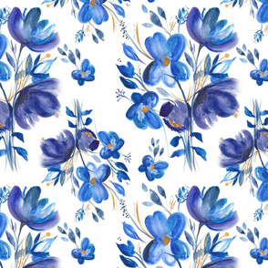 Blue Floral Bouquet - Large