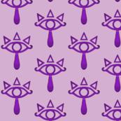 Purple Triangle Eye Tear-ch
