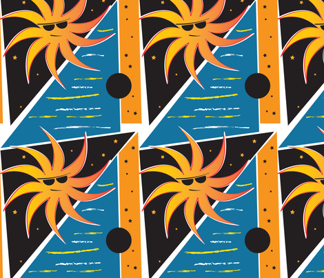 Sunny Stars fabric by whyitsme_design on Spoonflower - custom fabric