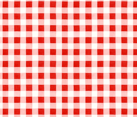 Classic red and white gingham fabric by patriciasheadesigns on Spoonflower - custom fabric