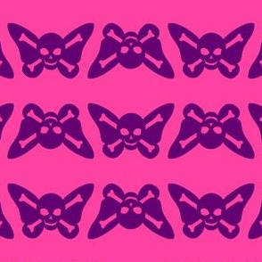 Butterfly Skulls - Pink and Purple