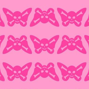 Butterfly Skulls - Pink