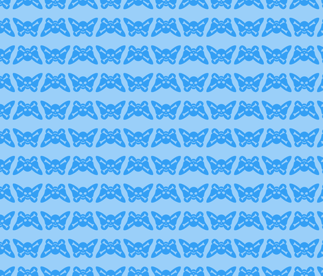 Butterfly Skulls - Baby Blue fabric by elladorine on Spoonflower - custom fabric