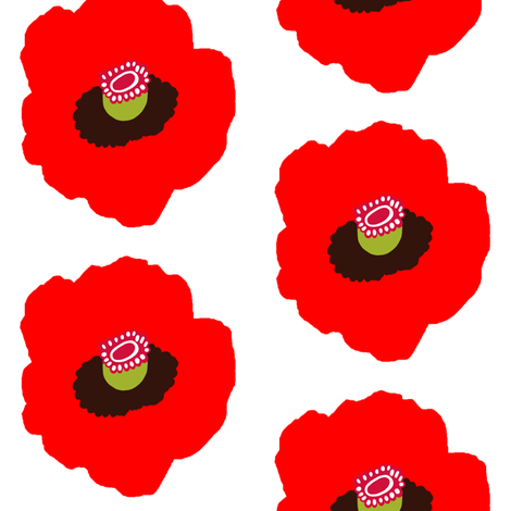 Poppy fabric by emariannorde on Spoonflower - custom fabric