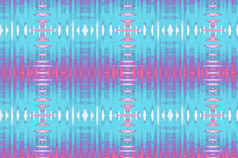 Spiky Pink and Blue Grid Upholstery Fabric fabric by llukks on Spoonflower - custom fabric
