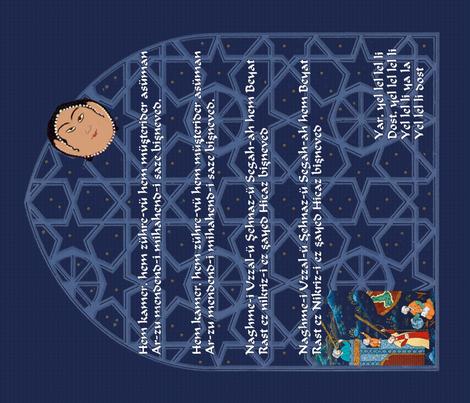 Hem Kamer fabric by wanderingaloud on Spoonflower - custom fabric