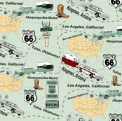 Maps Route 66 USA by Salzanos