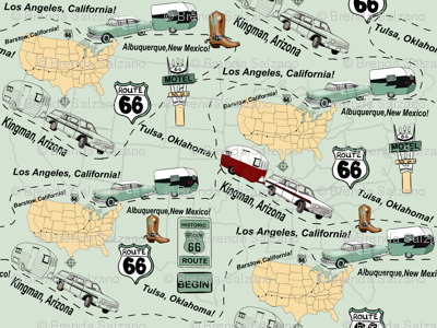 Map Route 66 USA by Salzanos