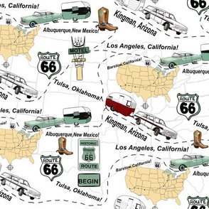 Road Map Route 66 USA