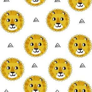 lion fabric // nursery baby lion design safari baby andrea lauren fabric - white