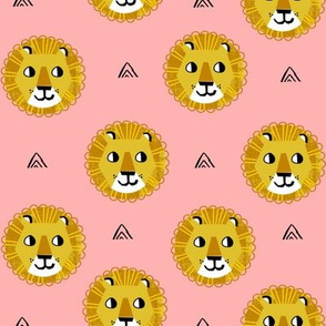 lion fabric // nursery baby lion design safari baby andrea lauren fabric - pink