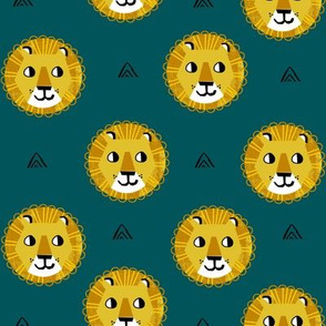 lion fabric // nursery baby lion design safari baby andrea lauren fabric - teal