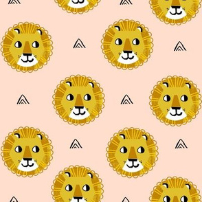 lion fabric // nursery baby lion design safari baby andrea lauren fabric -blush