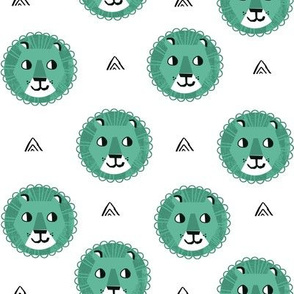 lion fabric // nursery baby lion design safari baby andrea lauren fabric - green