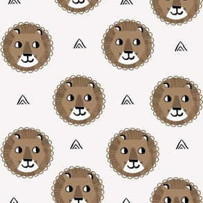 lion fabric // nursery baby lion design safari baby andrea lauren fabric - brown