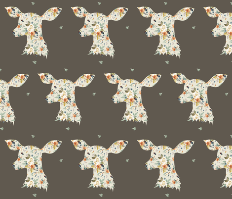 "6"" Western Autumn Deer / Taupe fabric by shopcabin on Spoonflower - custom fabric"