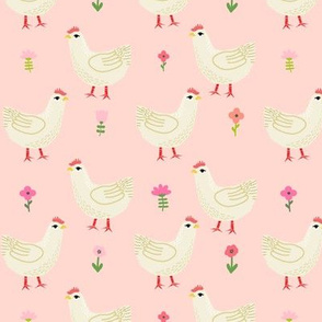 Chicken cute farm homestead outdoor animal pattern 2