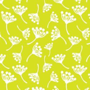 Happy yellow dandelion flowers