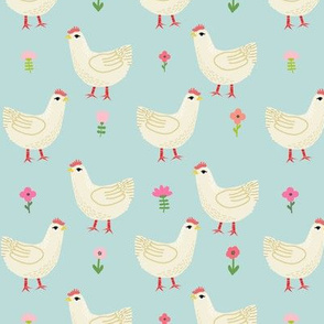 Chicken cute farm homestead outdoor animal pattern 3