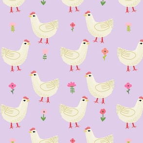 Chicken cute farm homestead outdoor animal pattern 4