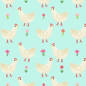 Chicken cute farm homestead outdoor animal pattern 5