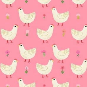 Chicken cute farm homestead outdoor animal pattern 6
