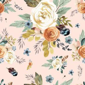 "18"" Western Autumn / More Florals / Light Peach"