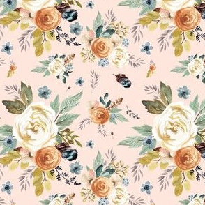 "4"" Western Autumn / More Florals / Peach"