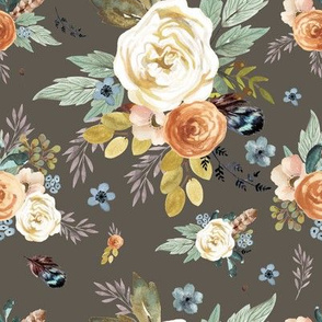 "8"" Western Autumn / More Florals / Taupe"