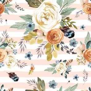 "8"" Western Autumn / More Florals / Pink Stripes"