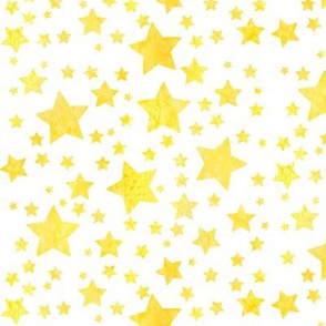 Stars Watercolour Yellow