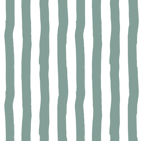 """8"""" Western Autumn /  Dry Green Stripes / Vertical  fabric by shopcabin on Spoonflower - custom fabric"""