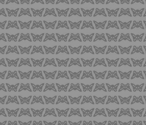 Butterfly Skulls - Grey fabric by elladorine on Spoonflower - custom fabric