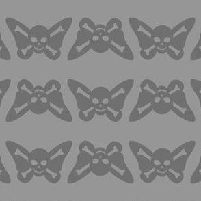 Butterfly Skulls - Grey