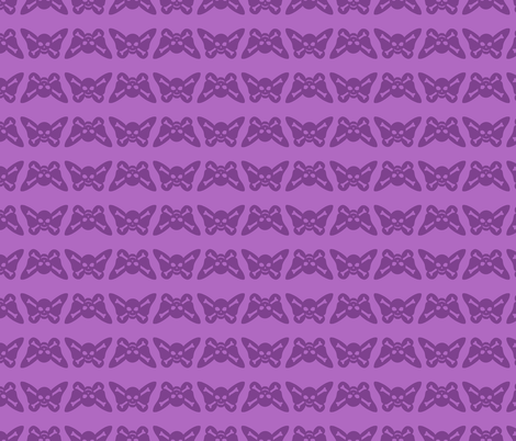 Butterfly Skulls - Lavender fabric by elladorine on Spoonflower - custom fabric