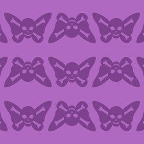 Butterfly Skulls - Lavender