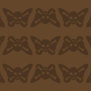 Butterfly Skulls - Brown