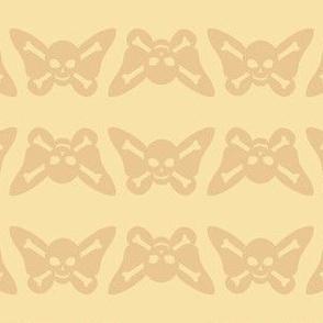 Butterfly Skulls - Cream
