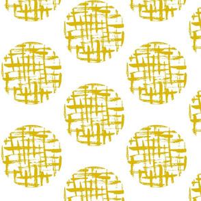 cross hatch circle mustard
