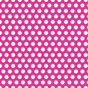 Pink Bright Dot / pink polka dot