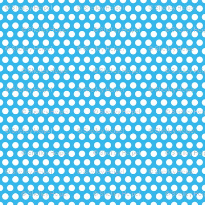 Blue Bright Dot / blue polka dot
